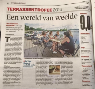 Terrassentrofee: een 9 voor The Boathouse Kralingen